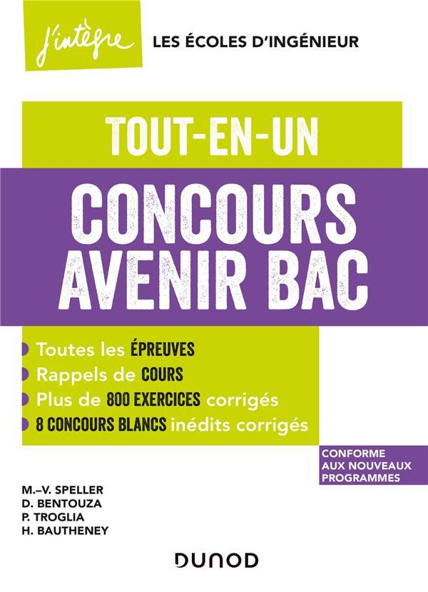 CONCOURS AVENIR BAC  - TOUT-EN-UN - 4E ED.