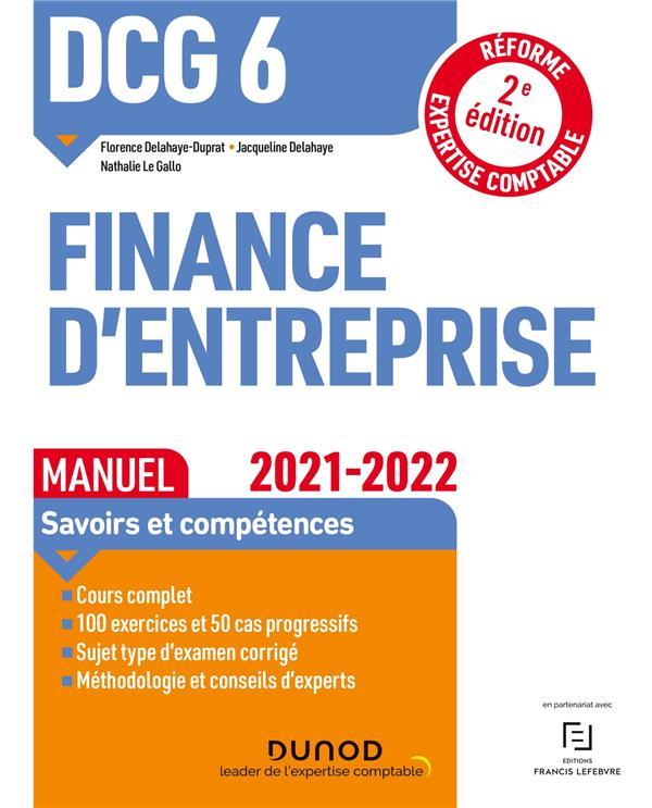 DCG 6 - FINANCE D'ENTREPRISE - DCG 6 - 1 - DCG 6 FINANCE D'ENTREPRISE - MANUEL 2021-2022 - REFORME E