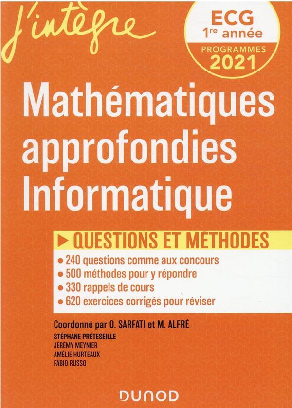 ECG 1 - MATHEMATIQUES APPROFONDIES, INFORMATIQUE - QUESTIONS ET METHODES