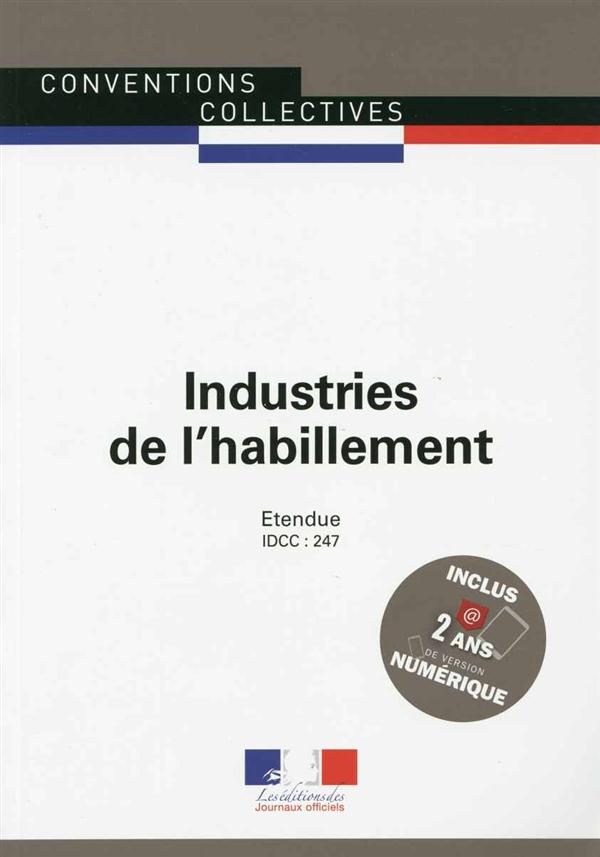 INDUSTRIES DE L'HABILLEMENT CC3098