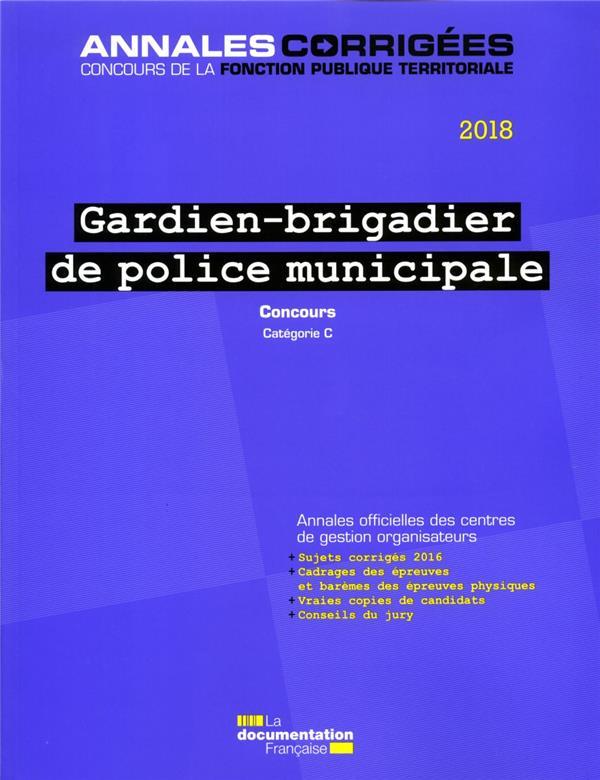GARDIEN-BRIGADIER DE POLICE MUNICIPALE 2018- CONCOURS