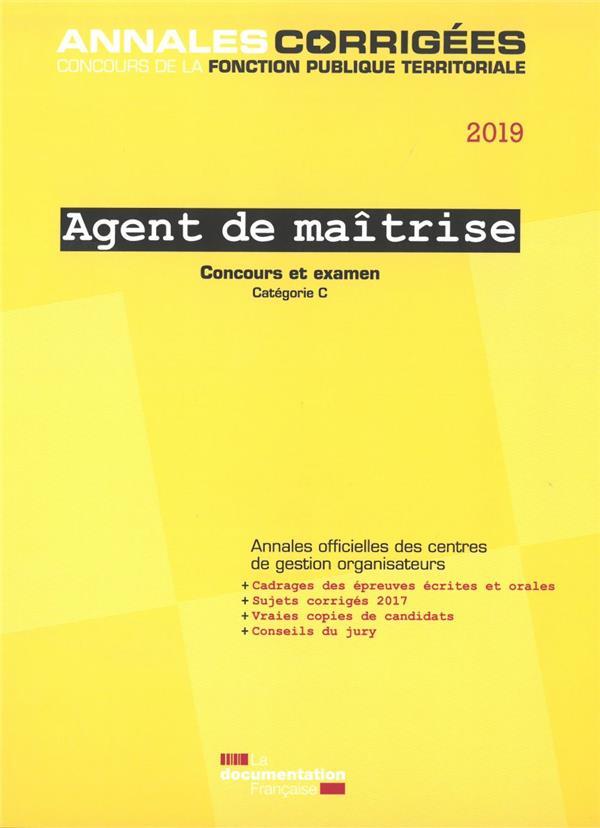 AGENT DE MAITRISE 2019 CONCOURS
