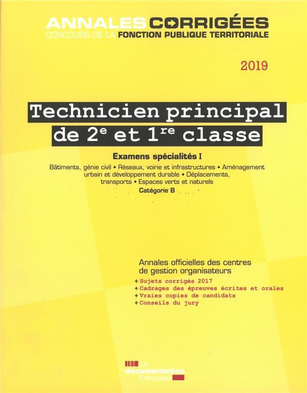 TECHNICIEN PRINCIPAL DE 2E ET 1RE CLASSE 2019-2020. EXAMENS SPECIALITES I