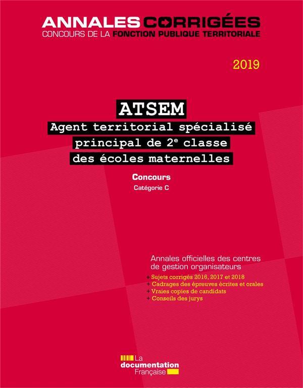 AGENT TERRITORIAL SPECIALISE DES ECOLES MATERNELLES PRINCIPAL DE 2E CLASSE 2019 - ATSEM.CONCOURS.CAT