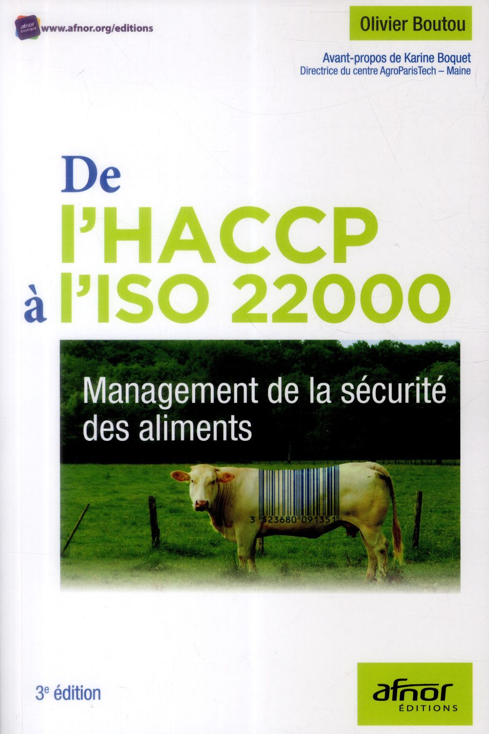 DE L'HACCP A L'ISO 22000 MANAGEMENT DE LA SECURITE DES ALIMENTS