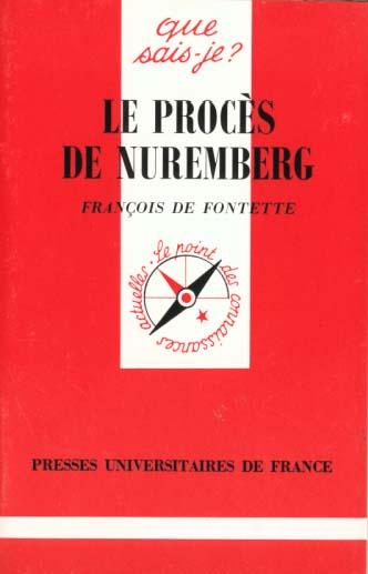 IAD - LE PROCES DE NUREMBERG QSJ 3221