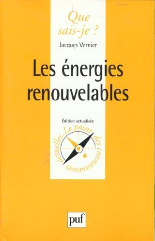 ENERGIES RENOUVELABLES (LES)