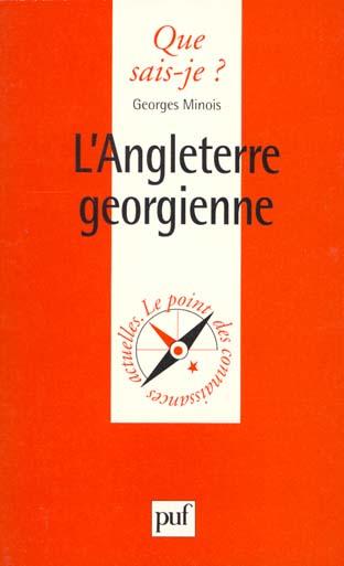 IAD - L'ANGLETERRE GEORGIENNE QSJ 3303