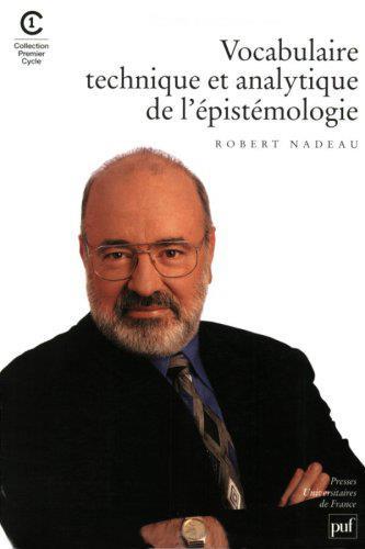 VOCABULAIRE TECHNIQUE ET ANALYTIQUE DE L'EPISTEMOLOGIE