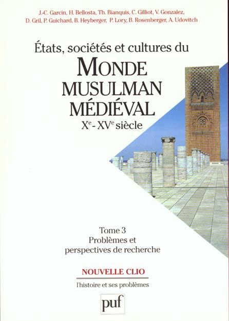 IAD - ETATS SOC.& CULTURES MONDE MUSULM.T3