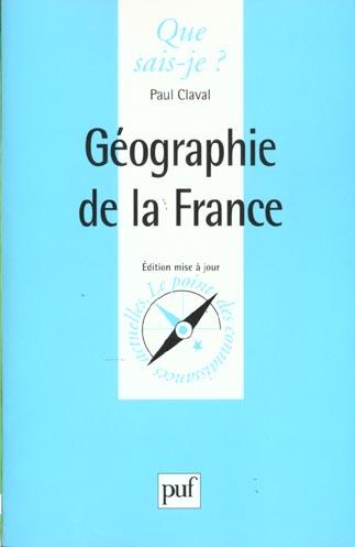 GEOGRAPHIE DE LA FRANCE (4ED) QSJ 1239