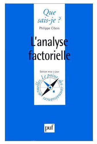L'ANALYSE FACTORIELLE