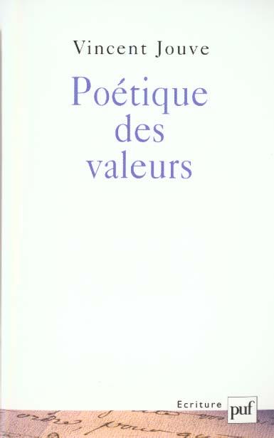 POETIQUE DES VALEURS