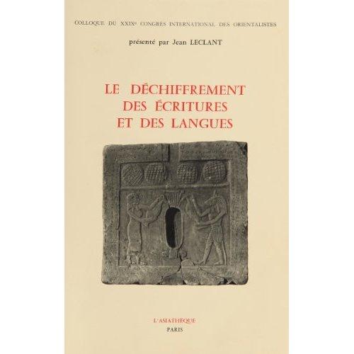 LE DECHIFFREMENT ECRITURES ET DES LANGUES