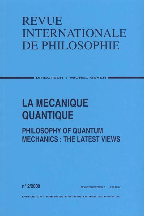 LA MECANIQUE QUANTIQUE N 212 2000-2