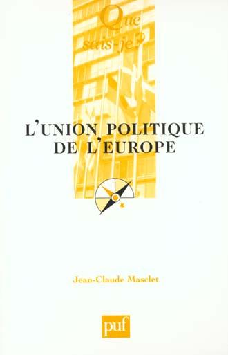 L'UNION POLITIQUE DE L'EUROPE