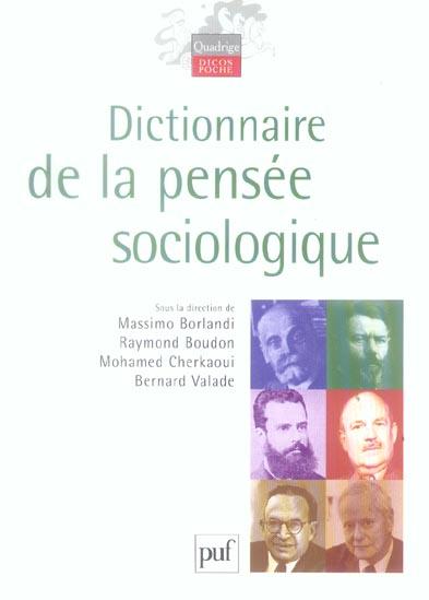 DICTIONNAIRE DE LA PENSEE SOCIOLOGIQUE