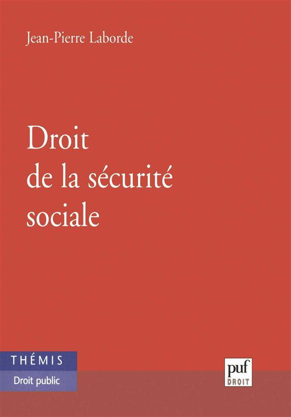 DROIT DE LA SECURITE SOCIALE