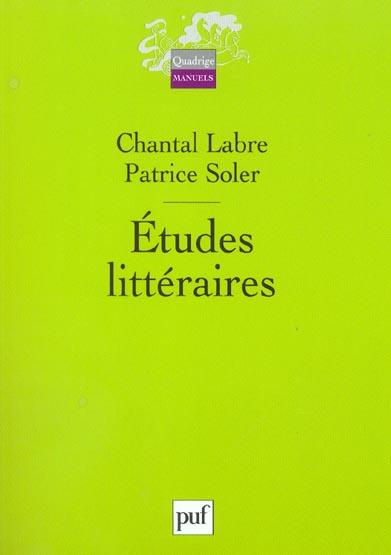IAD - ETUDES LITTERAIRES
