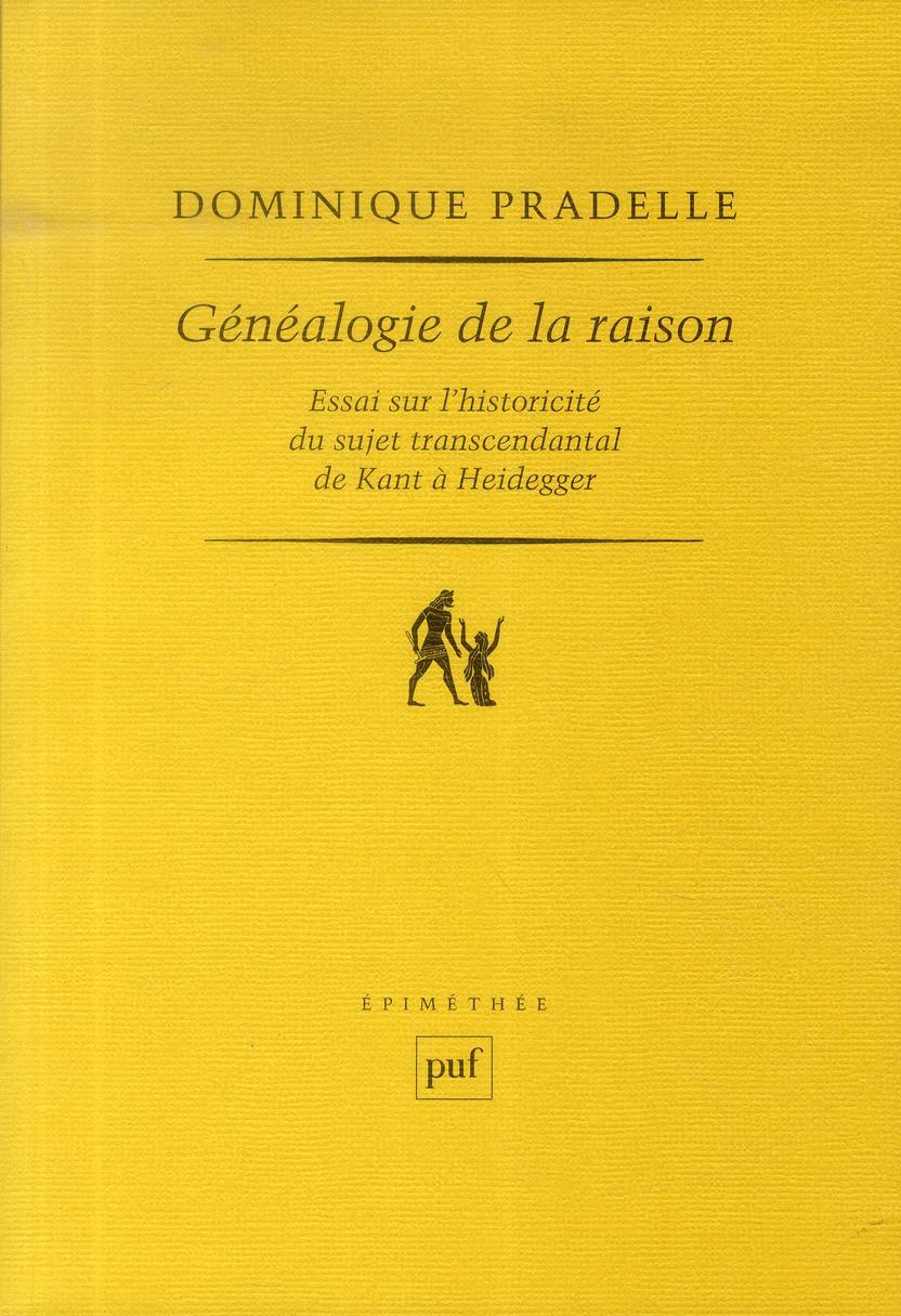 GENEALOGIE DE LA RAISON