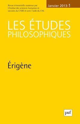 IAD - ETUDES PHILOSOPHIQUES 2013 N 1 ERIGENE