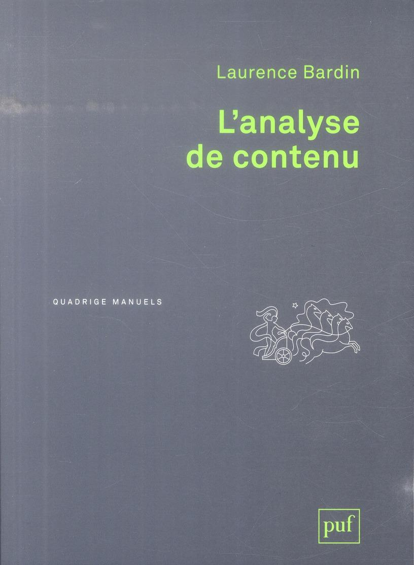 L'ANALYSE DE CONTENU (2ED)