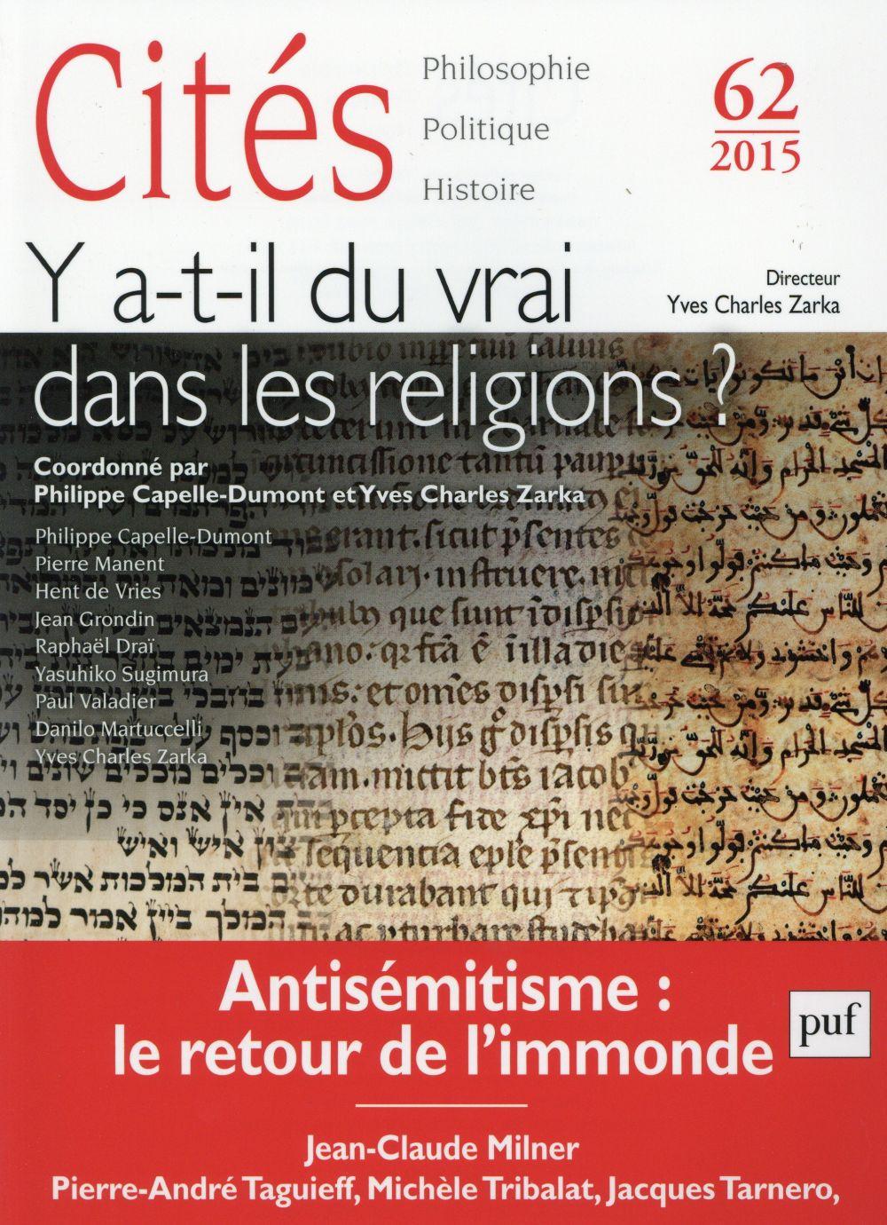 IAD - CITES 2015 N 62 - Y A-T-IL DU VRAI DANS LES RELIGIONS