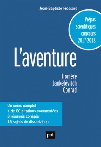 L'AVENTURE - PREPAS SCIENTIQUES 2017/2018