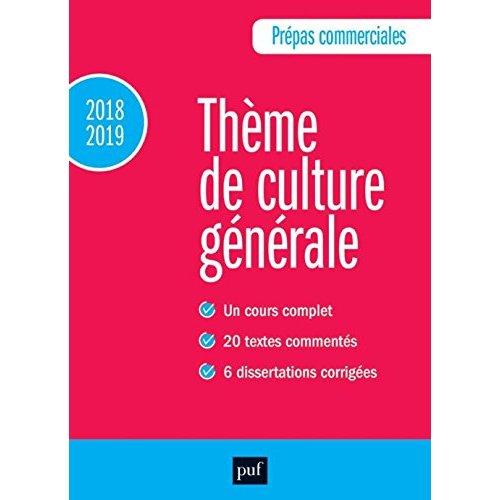 PREPAS COMMERCIALES 2018-2019 - CULTURE GENERALE