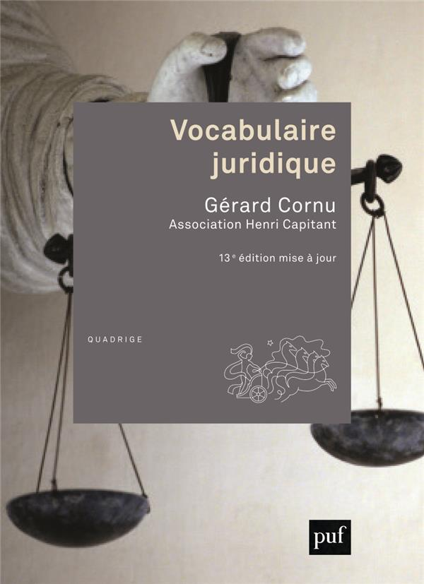 VOCABULAIRE JURIDIQUE - ASSOCIATION HENRI CAPITANT
