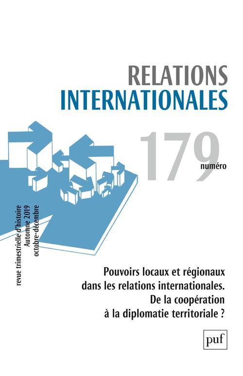 RELATIONS INTERNATIONALES 2019, N.179