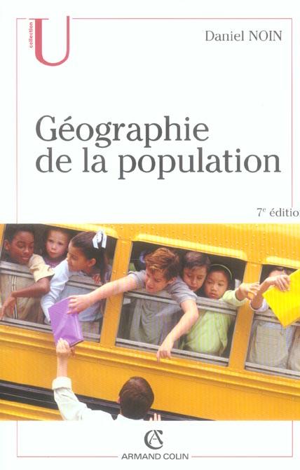 GEOGRAPHIE DE LA POPULATION