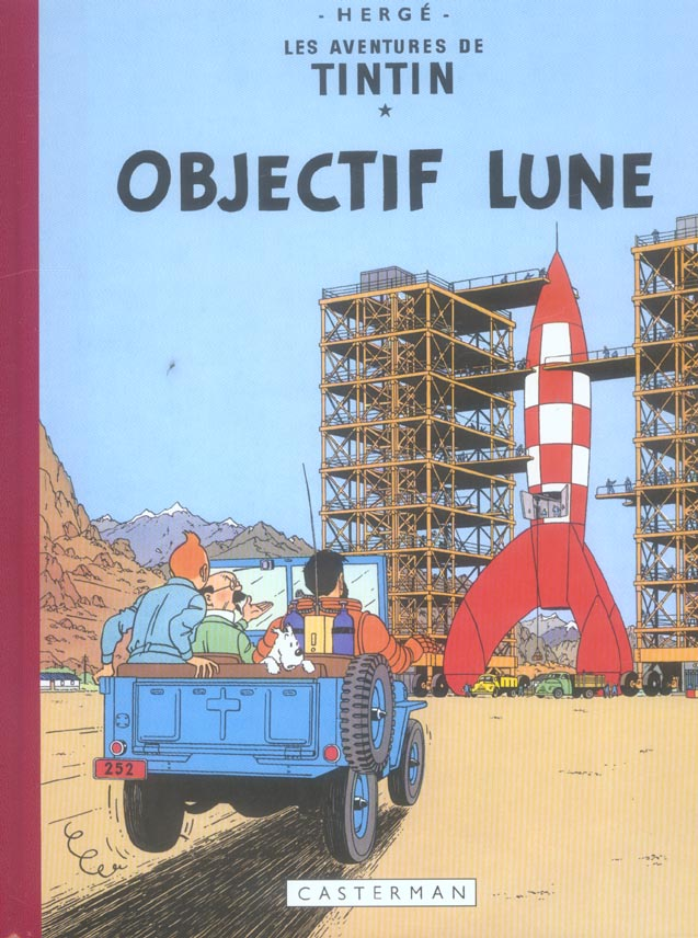 TINTIN FAC-SIMILE COULEURS - OBJECTIF LUNE