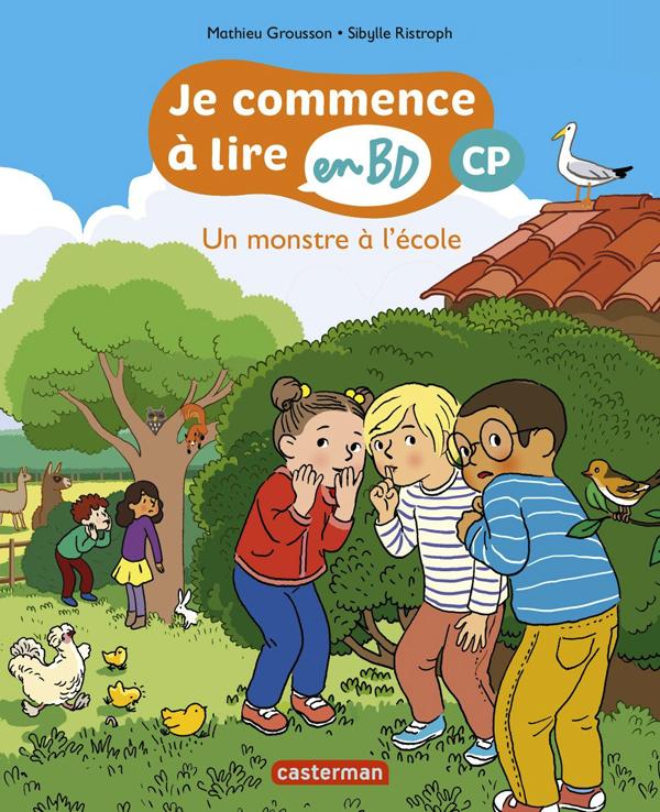 UN MONSTRE A L'ECOLE - JE COMMENCE A LIRE EN BD : CP