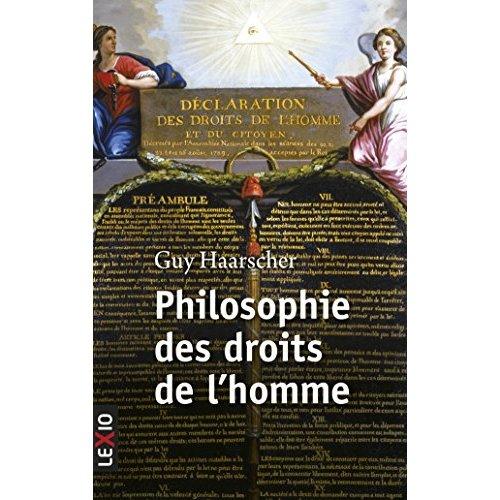 PHILOSOPHIE DES DROITS DE L'HOMME