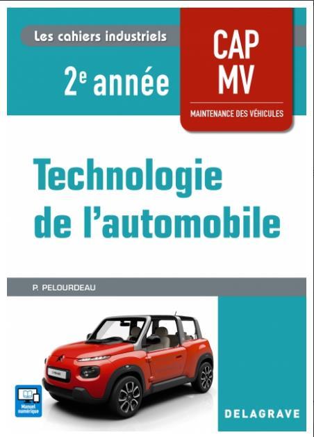 TECHNOLOGIE AUTOMOBILE CAP MAINTENANCE VEHICULES 2E ANNEE 2018 POCHETTE ELEVE