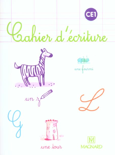 CE1 CAHIER D'ECRITURE