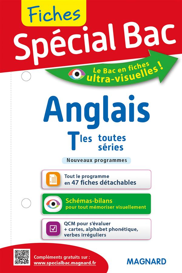 FICHES ANGLAIS TERM TOUTES SERIES SPECIAL BAC