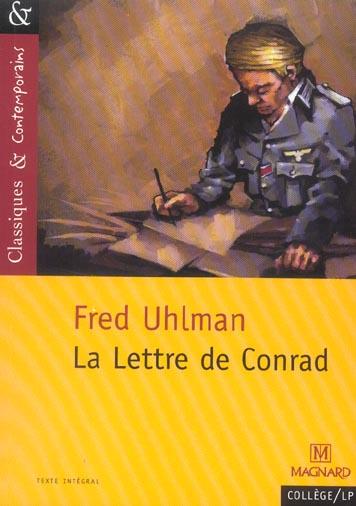 LETTRE DE CONRAD, DE FRED UHLMAN (LA)