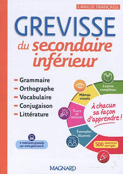 GREVISSE DU SECONDAIRE INFERIEUR 2018