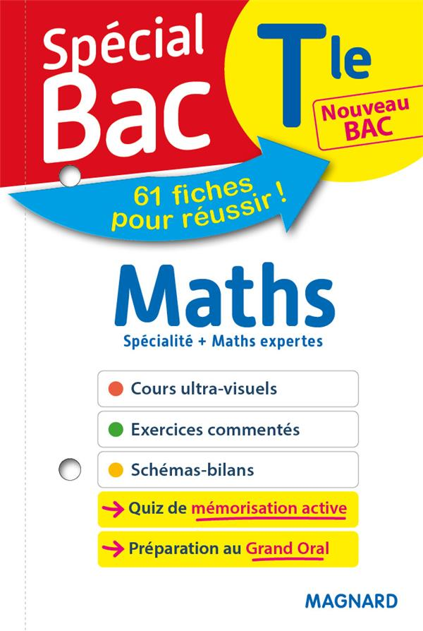 SPECIAL BAC FICHES MATHS + MATHS EXPERTES TLE BAC 2021