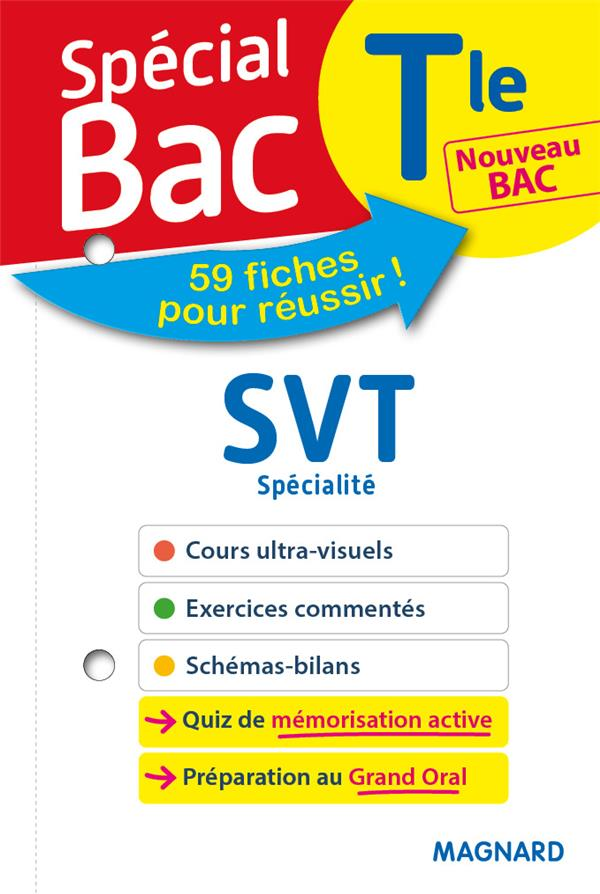 SPECIAL BAC FICHES SVT TLE BAC 2021