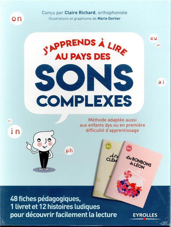 COFFRET J APPRENDS A LIRE AU PAYS DES SONS COMPLEXES - 48 FICHES PEDAGOGIQUES 1 LIVRET ET 12 HISTOIR