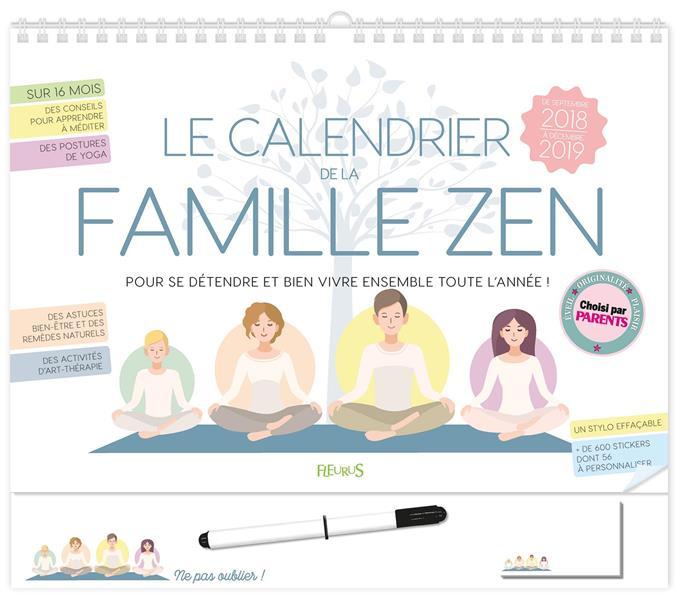 LE CALENDRIER DE LA FAMILLE ZEN 2018-2019