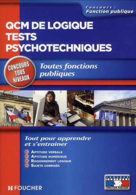 QCM DE LOGIQUE TESTS PSYCHOTECHNIQUES CONCOURS TOUS NIVEAUX