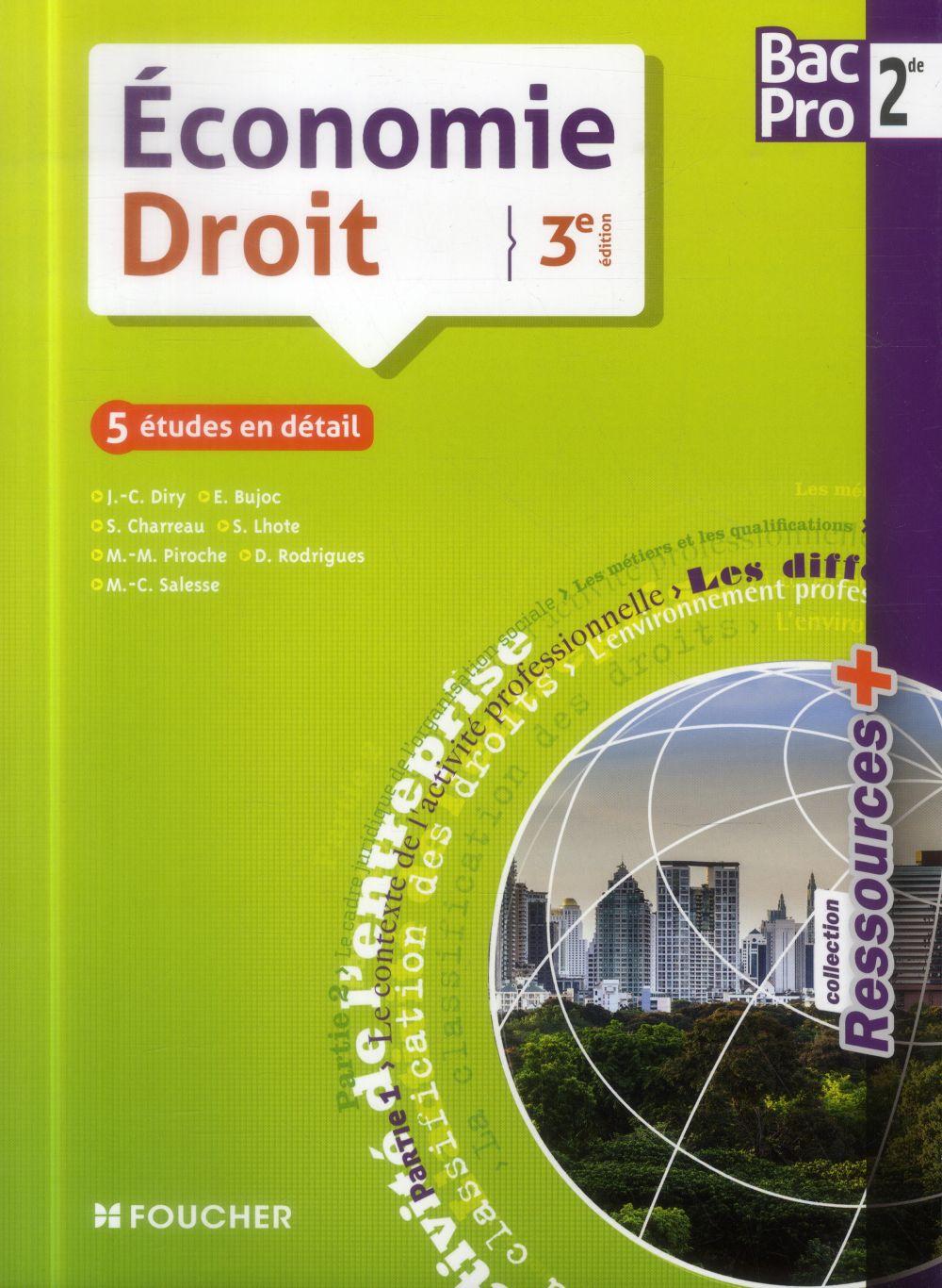 RESSOURCES + ECONOMIE - DROIT SDE BAC PRO 3E EDITION