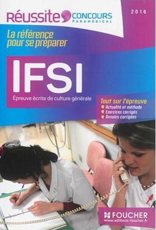 IFSI EPREUVE ECRITE DE CULTURE GENERALE - CONCOURS 2016 - N 19