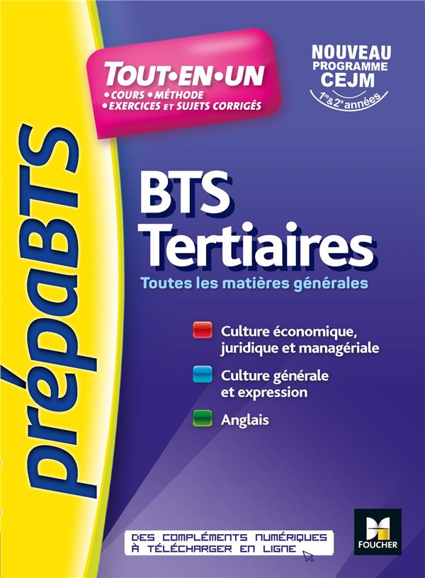 PREPABTS - TOUTES LES MATIERES GENERALES - BTS TERTIAIRES - REVISION ET ENTRAINEMENT
