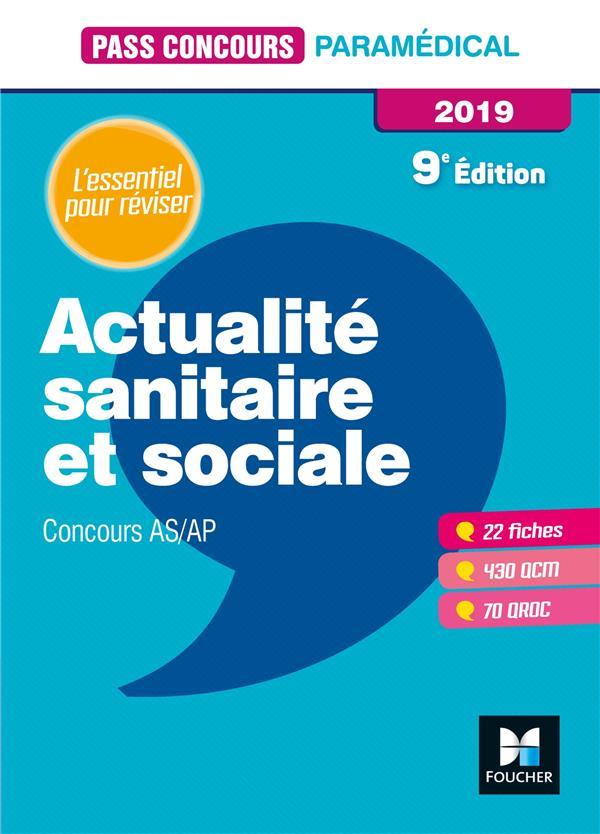 PASS'CONCOURS ACTUALITE SANITAIRE ET SOCIALE - AS-AP 2019 - REVISION ET ENTRAINEMENT