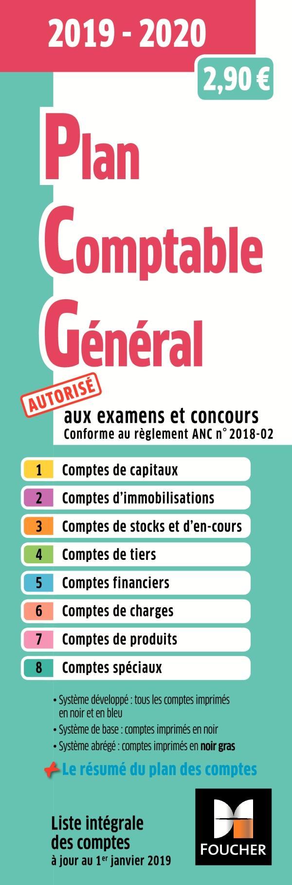 PLAN COMPTABLE GENERAL - PCG - 2019-2020